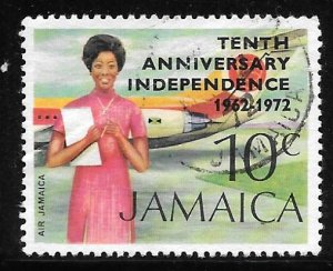 Jamaica 361: 10c Air Jamaica Overprint, used, VF