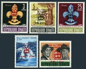 Haiti B31-B34,CB49,MNH.Michel 766-770. Olympics Innsbruck-1964. Scouting,