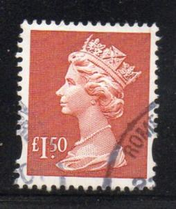 Great Brirain Sc MH280 1998 £1.50 QE II Machin Head stamp used