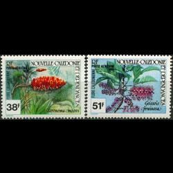 NEW CALEDONIA 1981 - Scott# C170-1 Flowers Set of 2 NH