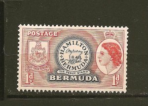 Bermuda 144 First Stamp Mint Hinged