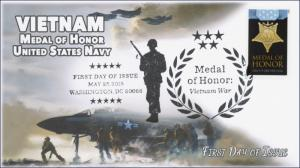 2015, Medal of Honor, Vietnam, Navy, B/W Pictorial, FDC, 15-133