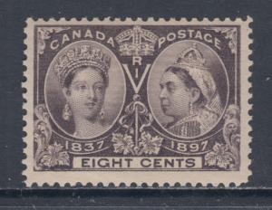 Canada Sc 56 MNH. 1897 8c Queen Victoria Jubilee F-VF