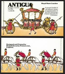 Antigua and Barbuda Coronation Anniversary Booklet SG#SB3