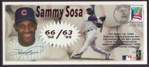 US Sammy Sosa 60+ Homer Runs 2 Seasons 1999 # 10 Cover