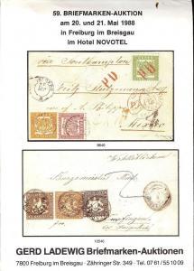 59. Briefmarken-Auktion, Gerd Ladewig  May 20-21, 1988