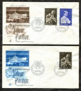 d172 - VATICAN 1964 Lot of (2) FDC Covers