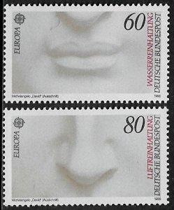 Germany #1457-8 MNH Set - Europa - Art - David
