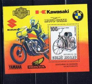 Guinea-Bissau 634 MNH 1985 Motorcycles S/S