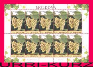 MOLDOVA 2013 Nature Flora Fruits Grapes Muscat sheetlet Mi Klb.849 MNH