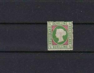 HELIGOLAND 1867 ½ SCHILLING MOUNTED MINT  STAMP  NO GUM       REF 5832