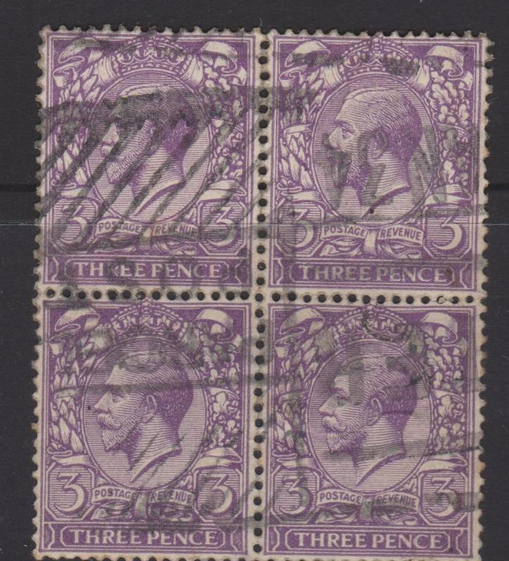 Great Britain 1912 KGVI Sc#164 Block of 4 Used