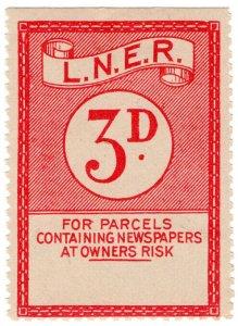 (I.B) London & North Eastern Railway : Newspaper Parcel 3d