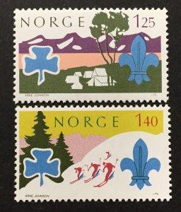 Norway 1975  #656-7, Boy Scouts, MNH.