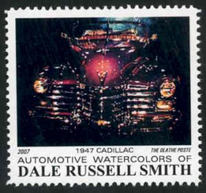 Automotive Art: '47 Cadillac ~ Artistamp - Cinderella - MNH