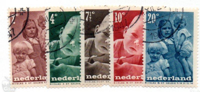 NETHERLANDS B180-4 USED SCV $2.15 BIN $.85 FAMILY