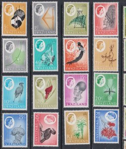 1962 Swaziland Scott 92-107 Queen and Swazi Sheiks MlH