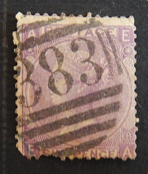 1865, Queen Victoria - Large White Control Letters in Corners, SC #45, (2184-Т)