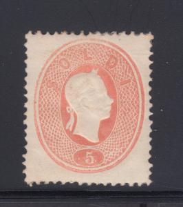 Lombardy-Venetia Sc 13 MLH. 1861 5s lt red Franz Josef, Cert