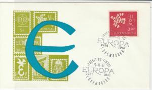 Luxembourg Europa 1961 Journee Du Timbre Two Cancels Stamps Cover R 18710