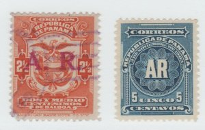 Panama BOB Postal stamp revenue fiscal 6-1-21-1 - R  Registered?