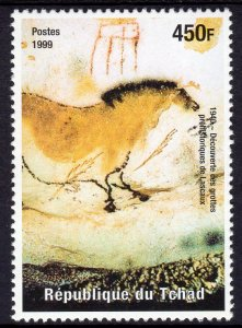 Chad 1999 Sc#808i Discovery of Lascaux cave drawings (1) perforated MNH
