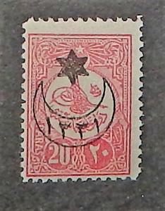 Turkey 318. 1915 20pa Carmine rose