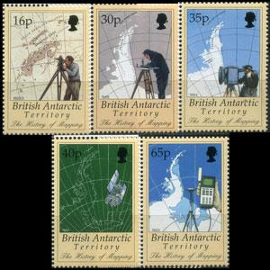 BR.ANTARCTIC TERR. 1998 - Scott# 253-7 Mapping Set of 5 NH