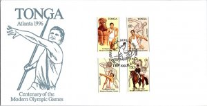 Tonga, Worldwide First Day Cover, Olympics, Sports