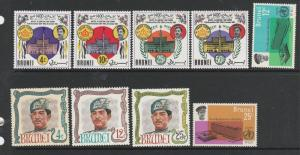 Brunei, 3 set UM 66 WHO, 67 Koran & 68 Birthday SG 142/3, 147/50 & 154/6