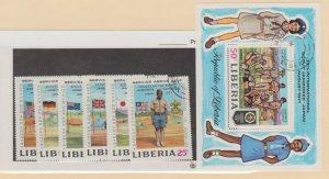 Liberia Scott #563-568//C188 Stamp - Used Set
