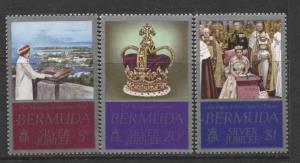 Bermuda - Scott 347-49 - Silver Jubilee -1977 - MNH - Set of 3 Stamps