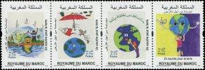 Morocco 2018 Sc 1248 Birds Globe Tree CV $3.25