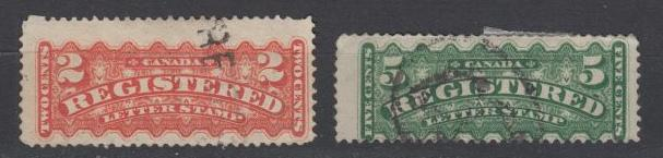 Canada - 1875 Registration stamp lot (8765)