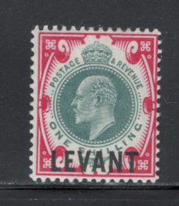 Great Britain Offices Turkish Empire 1905 Overprint 1sh Scott # 24 MH