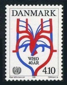 Denmark 852,MNH.Mi 919. WHO,40th Ann.1988.