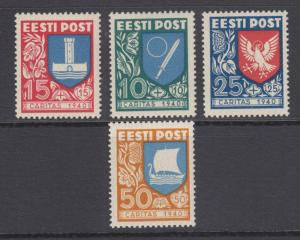 Estonia Sc B46-B49 MNH. 1940 Coat of Arms, fresh, well centered, complete set