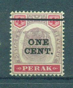 Malaya - Perak sc# 63 mh cat value $1.00