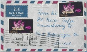 59910  -  KENYA - POSTAL HISTORY: COVER to SWITZERLAND  - MINERALS