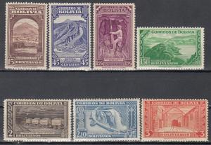 Bolivia, Sc # 290-296, MNH, 1943, Dams and Mines