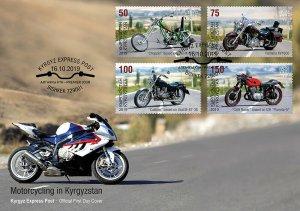 KYRGYZSTAN (KEP)/2019 - (FDC-1) Motorcycles (Chopper),  MNH