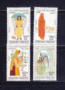 Tunisia 414, 416, 420-421 MHR Costumes