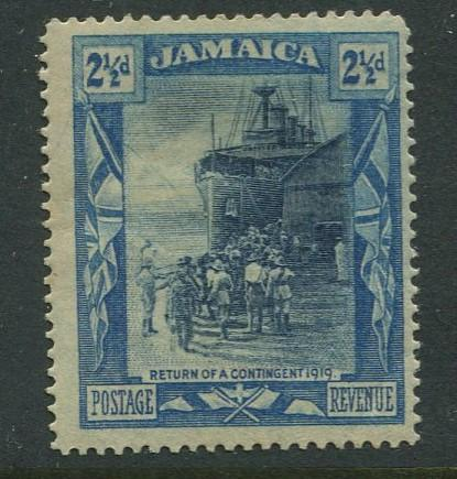 Jamaica -Scott 79a -Return overseas Contingent -1919 - MLH - Single 2.1/2p Stamp