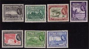 BRITISH GUIANA - QEII - SG331-337