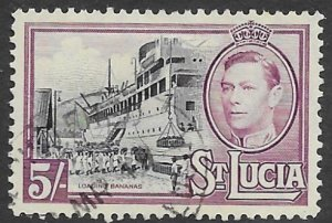 St Lucia  124    1938   5 sh.. VF  Used