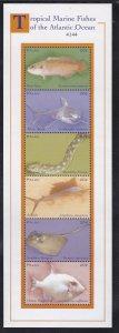 Palau # 589, Tropical Marine Fish, Mint NH Sheet. 1/2 Cat.