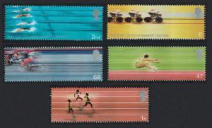 Great Britain Swimming Cycling Athletics Sports 5v 2002 MNH SG#2299-2303