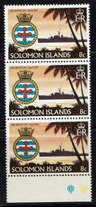 Solomon Islands SG# 430w (x3) - WMK Crwon Right - Mint Never Hinged - Lot 061216