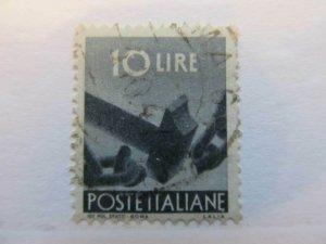 Italien Italie Italia Italy 1945-48 Democratica 10L fine used A13P15F118