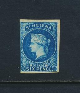 ST HELENA 1856, 6d VF MINT (SIGNED) SG#1 CAT£500 $650 (SEE BELOW)